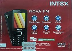 Intex Nova FM With Wireless FM (Dual Sim) (Black & Champagne)