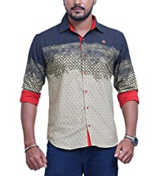 PP Shirts Men Cotton Casual Shirt ( Pista XXXXXL )