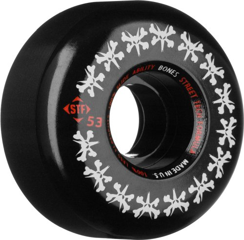 Bones STF Stree Tech Formula Skateboard Wheels (Rat Pack, 53mm, Set of 4)