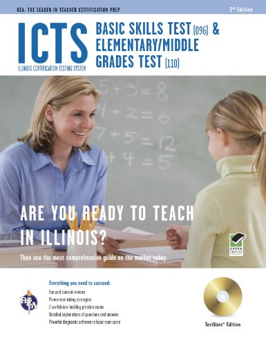 Icts Basic Skills & Elementary/Middle Grades W/Cd-Rom (Icts Teacher Certification Test Prep)