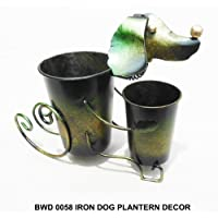 D-ART Iron Dog Garden Planter Decor