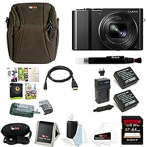 Panasonic Lumix DMC-ZS100 Digital Camera w/ Li-ion Battery & 64GB SD Card Bundle