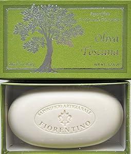 Saponificio Artigianale Fiorentino Tuscan Potted Olive Oil Single Soap Bar 10.5 Oz. From Italy