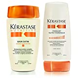 Kérastase Bain Satin 1 & Fondant Nutri-Thermique 200ml (Shampoo & Conditioner) Duo