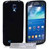 Yousave Accessories SA-EA02-Z581 Coque en gel/silicone pour Samsung Galaxy S4 Active Noir