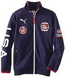 PUMA Big Boys' USA Jacket, Peacoat, Large
