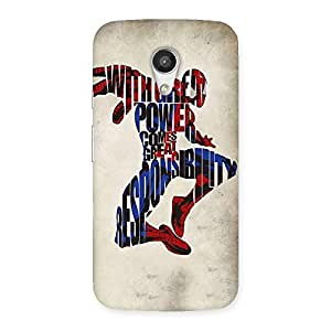 Power And Responsibility Multicolor Back Case Cover for Moto G 2nd Gen