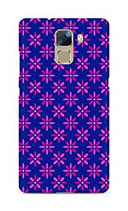 Amez designer printed 3d premium high quality back case cover for Huawei Honor 7 (Flower Pattern1)