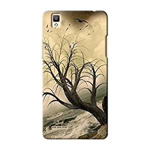 ArtzFolio Lonely Tree In The Ocean With Rocks : Oppo F1 Matte Polycarbonate ORIGINAL BRANDED Mobile Cell Phone Protective BACK CASE COVER Protector : BEST DESIGNER Hard Shockproof Scratch-Proof Accessories