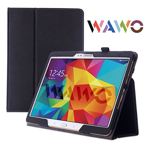 Wawo Creative Smart Folio Cover Case For Samsung Galaxy Tab S 10.5-Inch Tablet - Black front-216192