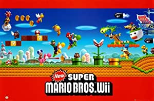Super Mario Bros. Wii Ninetendo Game 22x34 POSTER Poster Print, 34x22