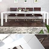 Design-Esstisch-LUCENTE-wei-Hochglanz-160-240cm-ausziehbar-Tisch