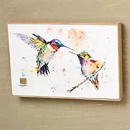 Big Sky Carvers The Lovebirds Hummingbird Wall Art