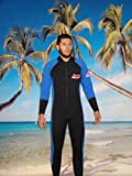 Unisex 7mm Front Zipper Wet Suit Size 2XL, Surf, Scuba, Dive, Gold Dredge 5803