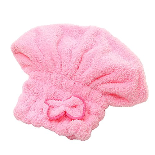 oyang-28cm-femme-bonnet-de-bain-serviette-enroulees-microfibre-chapeau-a-bain-avec-noeud-papillon-po
