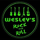 4x ccqp0175-g WESLEY'S Guitar Weapon Rock & Roll Bar Beer 3D Drink Coasters