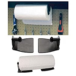 Magnetic Paper Towel Holder For Kitchen; Heavy Duty Steel Holder With Magnetic Backing That Sticks To Any Ferrous Surface; Great For Work Benches, Storage Closets, Grill Or In The Garage.- By Katzco.