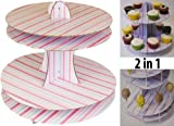 2 in 1 Cake Pop Cakepop and Cupcake Stand Birthday Party Decoration Set