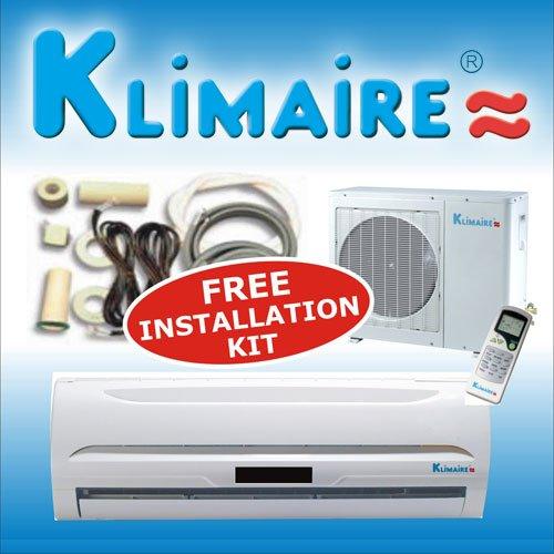 Klimaire 9000 Btu 13 SEER Mini Split Ductless a/c Air Conditioner & Heat Pump 115v with Free Installation Kit