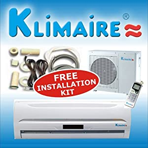 klimaire 12000 btu 13 seer mini split ductless. Black Bedroom Furniture Sets. Home Design Ideas