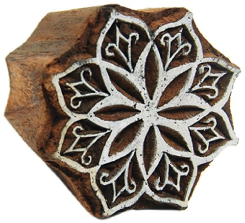 International Arrivals Blockwallah Wooden Stamp, Amaryllis Flower