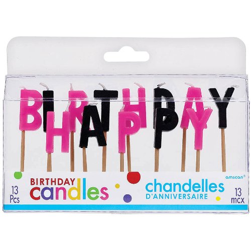 Happy Birthday Pick Candle Set