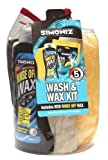 Simoniz Wash And Wax Kit - Rinse Off Carnauba Wax - 10 Wash Tablets - Sponge - Cloth - Chamois