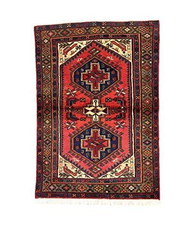 L'Eden del Tappeto Alfombra Hamadan Rojo / Multicolor 95 x 139 cm