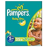 Pampers Baby Dry Size 5+ (13-27kg) Essential Pack Junior Plus 3x35 per pack