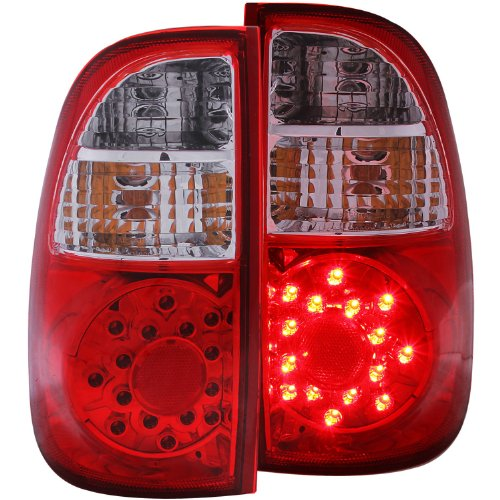 Anzo Usa 311117 Toyota Tundra Red/Clear Led Tail Light Assembly - (Sold In Pairs)