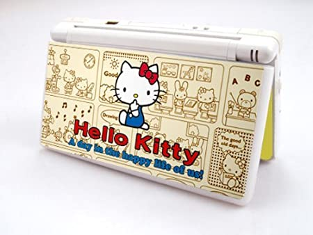 HELLO KITTY-GOLDEN Decorative Protector Skin Decal Sticker for Nintendo DS Lite