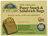 If You Care Paper Snack and Sandwich 48 Bags (Pack of 6, Total 288 Bags)