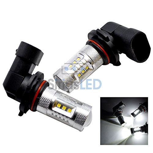 Pair Of 9005 Hb3 Cree Xbd Smd Projection Led Fog Light Daytime Running Lamp