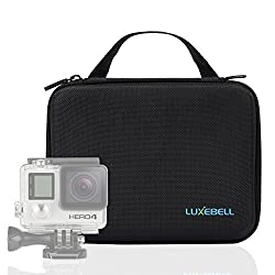 Luxebell Case for Gopro Hero 4, Black, Silver, Hero+ Lcd, 3+, 3, 2, 1 Camera and Accessories - Keeps Your Gopro Essentials Well Organized - Protective Travel Case and Flexible Interior - Medium GC80