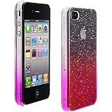 kwmobile Hardcase Hülle für Apple iPhone 4 / 4S mit Regentropfen Design - Hartschale Backcover Case Schutzhülle Cover in Pink