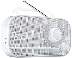 Blaupunkt BTA 6001 Radio Analogique Portable FM/MW Blanc