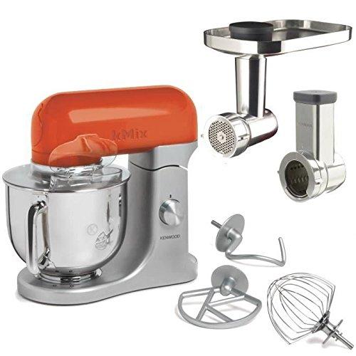 Kitchen Machine Kenwood KMX97 con accessorio grattuggia AX643 e accessorio tritacarne AX950 inclusi, Arancione