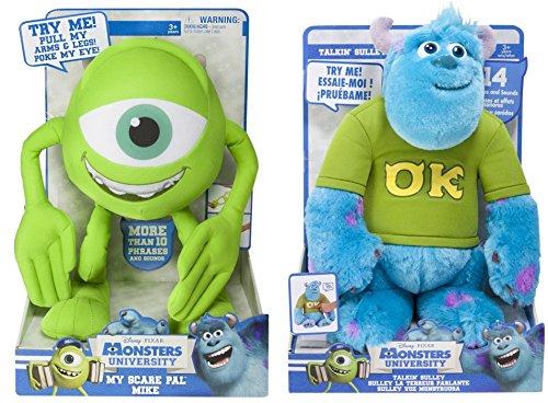 Disney Monsters University My Scare Pal Mike Plush & Talkin' Sulley Plush Bundle Set (Monsters Inc Plush compare prices)