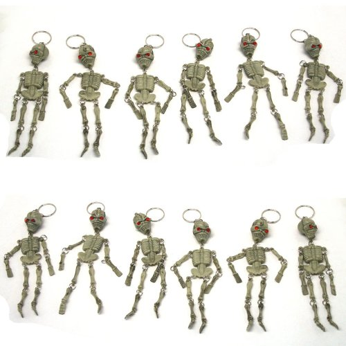 Skeleton Keychains : package of 12