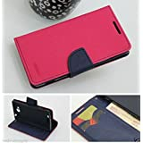Mercury Wallet Style Flip Case Cover For Sony Xperia C C2305 S39H Flip Case Cover Stand- Pink (Only For Sony Xperia...
