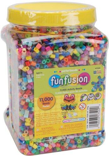 Perler Fuse Beads 11,000/Pkg-Fun Fusion/Multi Mix - 656418