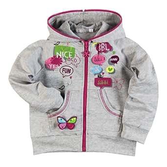 Bóboli - Jacke Plüsch Mit Kapuze - Sweat-shirt à capuche Fille - Gris (VIGORE GRAU) - FR : Taille unique (Taille fabricant : 3 ans)