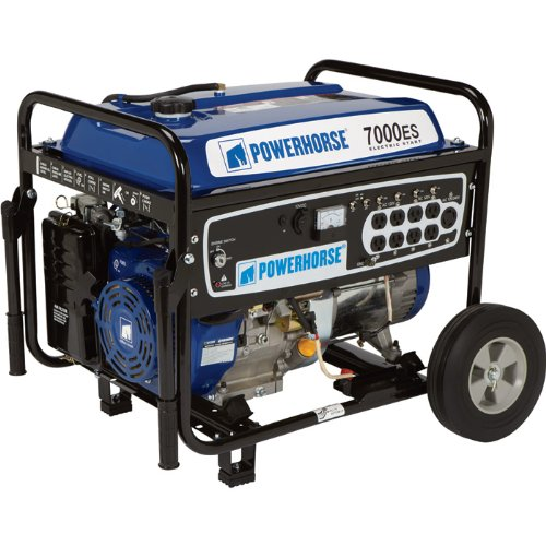 Powerhorse Portable Generator with Electric Start - 7,000 Surge Watts, 5,500 Rated Watts, Model# DFD7000
