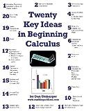 img - for Twenty Key Ideas in Beginning Calculus (B & W) book / textbook / text book