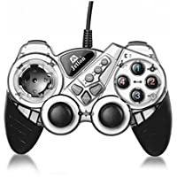 Dual Shock Wired USB Gamepad Controller For PC With Gripped Joysticks Ergonomic Design Vibration Force Feedback... - B00S879DYQ