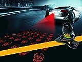 『目立つな図案付きレーザーフォグライト』ポーペ(POOPEE)最新登場■ 12V-24V全ての車型適用、オートバイも適用追突防止バックフォグ・スモールランプ・ブレーキランプ・レーザーフォグランプ 雪、雨、霧など悪天気にも安心 【全6種スタイル】ドクロ