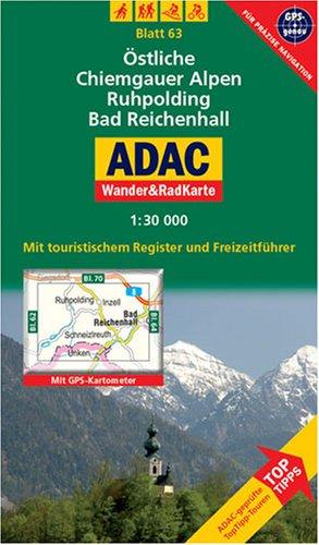 Wander RadKarte - östliche Chiemgauer-Alpen