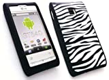EMARTBUY LG GT540 OPTIMUS SILICON CASE/COVER/SKIN ZEBRA BLACK/WHITE