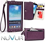  EXPOSE   Purple Wristlet Wallet Phone Case Cover May Fit Samsung Galaxy Note III & NuVur ™…