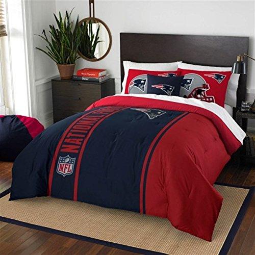 New England Patriots Embroidered Full Comforter & Shams Set, NFL Boys 3 Piece Bedding